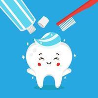 caractère de soins dentiste vecteur stock
