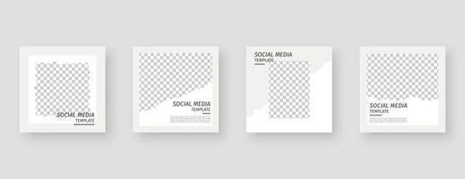 modèle de médias sociaux. modèle de publication de médias sociaux modifiable à la mode. maquette isolée. conception de modèle. illustration vectorielle. vecteur
