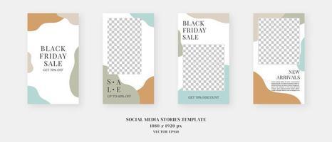 modèle de médias sociaux. modèle d'histoires de médias sociaux modifiables à la mode. maquette isolée. conception de modèle. illustration vectorielle. vecteur