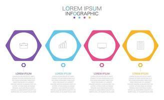modèle infographique en quatre étapes, modèle de diagramme, graphique, présentation et graphique.
