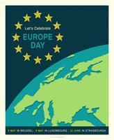 Affiche de vecteur de l'Europe jour