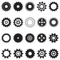icône de vecteur de modèle de logo engrenage