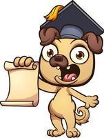 Carlin de dessin animé diplômé