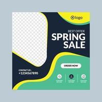 bannière de médias sociaux de vente de printemps
