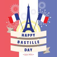 jour de la Bastille vecteur