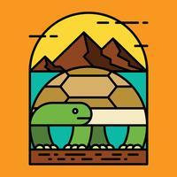 Illustration vectorielle de tortues vecteur