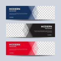 conception de modèle de bannières modernes. vecteur eps 10