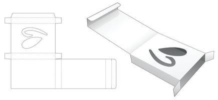 boîte en fer-blanc pliante avec fenêtre en forme de coeur cachée modèle découpé