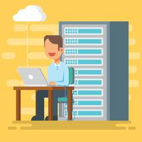 Illustration vectorielle de Cloud Engineers