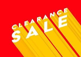 conception d'affiche ou de dépliant de vente de liquidation. modèle de bannière de vente en ligne de dédouanement. vecteur