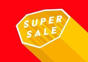 conception d'affiche ou de flyer super vente. modèle de bannière de vente en ligne super. vecteur