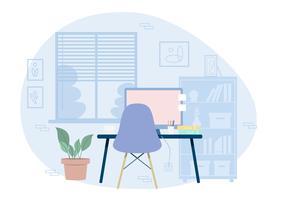 Illustration de chambre de concepteur de vecteur