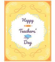 Vecteurs de la journée des enseignants vecteur