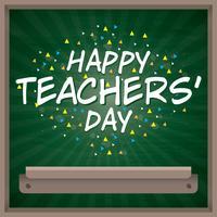 Journée des enseignants heureux vecteur