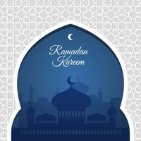 Illustration de fond de Ramadan vecteur