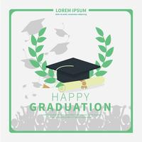 Illustration simple carte de Graduation vecteur