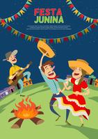Festa Junina Brésil juin Festival vecteur