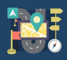 Éléments de navigation de style plat vecteur