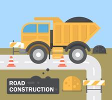 Construction de routes plates vecteur