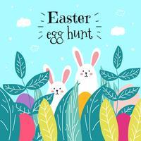 Vecteur de chasse aux œufs de Pâques