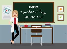 Contexte de la journée des enseignants vecteur