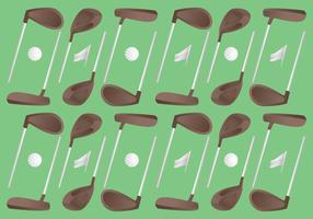 Vecteurs de modèle de golf Vintage unique vecteur