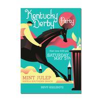 Invitation avec Horse Ridding et Mint Julep vecteur