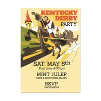 Illustration Kentucky Derby ou tout événement sur le thème du cheval avec vue en perspective vecteur