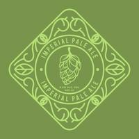 Vecteur de label Imperial Pale Ale