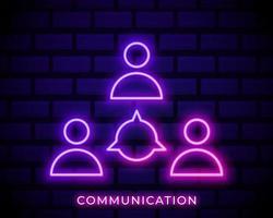gens de néon de communication vecteur
