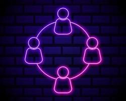 icône de communication au néon vecteur