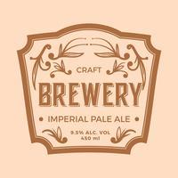 Plat Impériale Pale Ale Label vecteur
