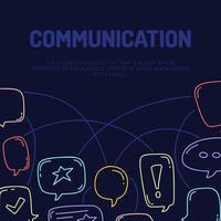 bannière d'illustration de conversation de conversation de communication