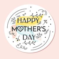 Vecteur de fête des mères heureux