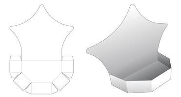 modèle de découpe de plateau d'affichage en forme d'étoile