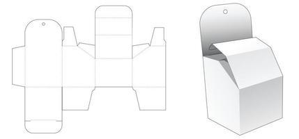 trou de suspension boîte d'emballage chanfreinée gabarit découpé