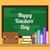 Illustration vectorielle de plat enseignants jour