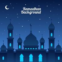 Vecteur de fond de Ramadhan nuit