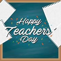 Typographie de la journée des enseignants vecteur