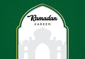 Fond de mosquée Ramadan vecteur