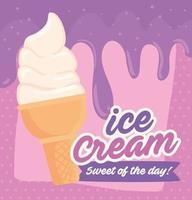 affiche de crème glacée vecteur
