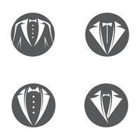 ensemble d'images de logo de smoking