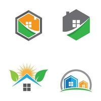 ensemble d'images de logo de maison