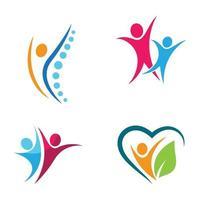 ensemble de conception d'images logo bien-être