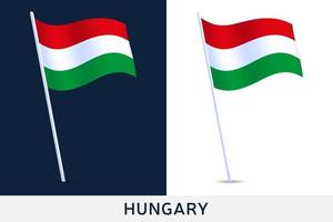 drapeau ondulant de la Hongrie vecteur