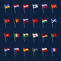 ensemble de drapeau de pays europe vecteur