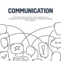 carte de fond de communication chat conversation bulle