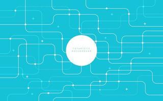 abstrait technologie futuriste fond couleur bleu clair lignes courbes, points avec espace de copie. modèle de ligne rayé pastel simple et minimal. design plat. illustration vectorielle