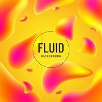 forme abstraite de couleur jaune fluide rose et orange avec espace copie. concept futuriste moderne. illustration vectorielle. vecteur