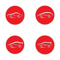 illustration d'images de logo de voiture vecteur